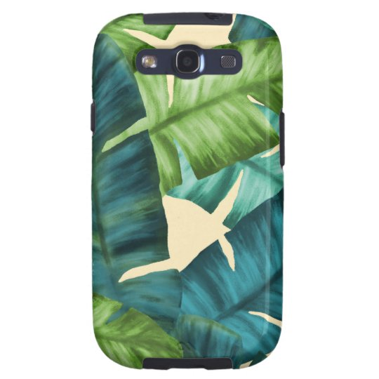 Tropical Banana Leaves Original Pattern Galaxy S3 Cover