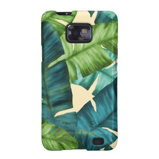 Tropical Banana Leaves Original Pattern Galaxy SII Cover