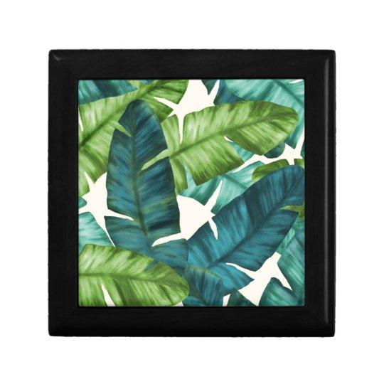 Tropical Banana Leaves Original Pattern Gift Box