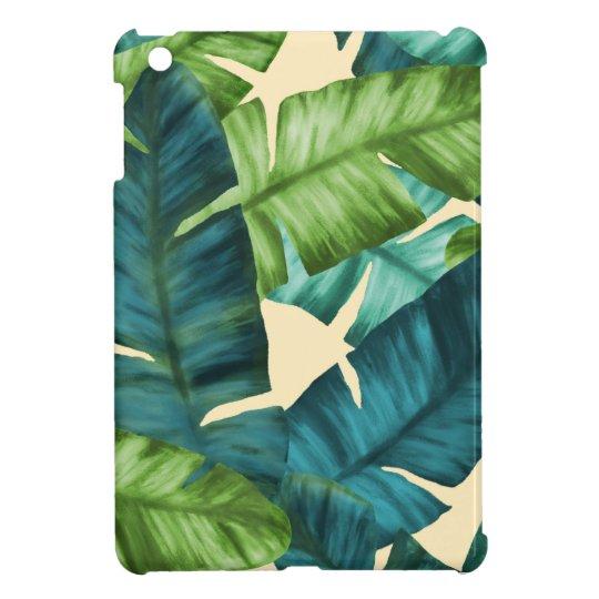 Tropical Banana Leaves Original Pattern iPad Mini Case