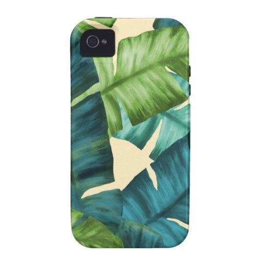 Tropical Banana Leaves Original Pattern iPhone 4/4S Cover