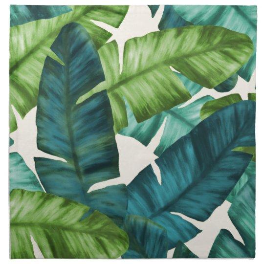 Tropical Banana Leaves Original Pattern Napkin