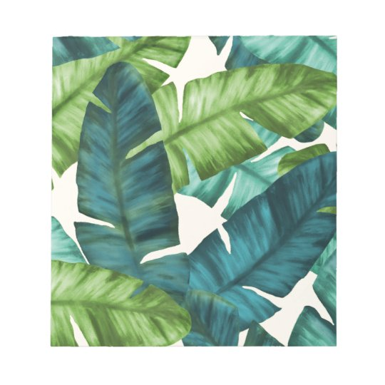 Tropical Banana Leaves Original Pattern Notepad