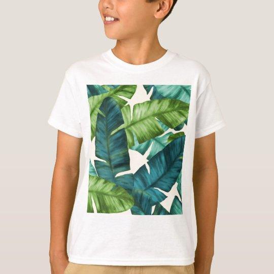 Tropical Banana Leaves Original Pattern T-Shirt
