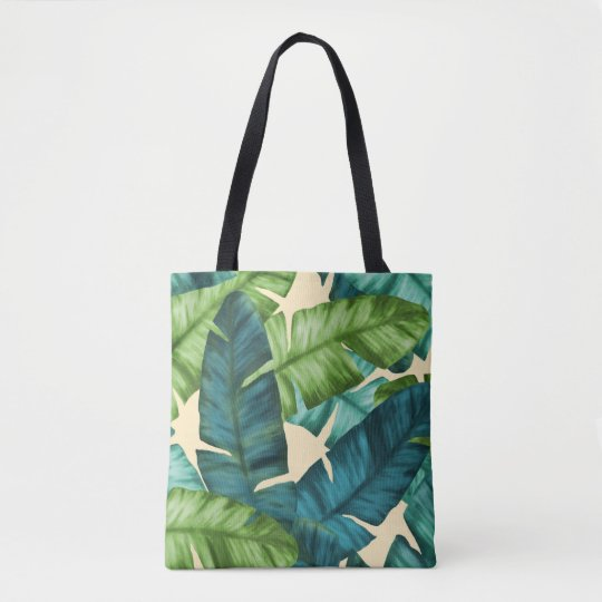 Tropical Banana Leaves Original Pattern Tote Bag