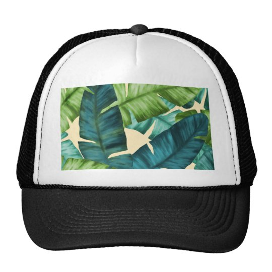 Tropical Banana Leaves Original Pattern Trucker Hat