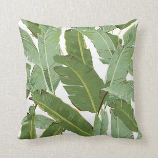 Tropical Banana Leaves Pillow