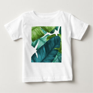 Tropical Banana Leaves Unique Pattern Baby T-Shirt