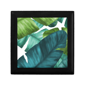 Tropical Banana Leaves Unique Pattern Gift Box