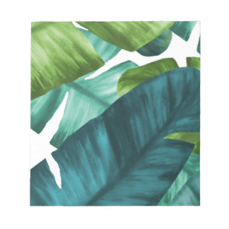Tropical Banana Leaves Unique Pattern Notepads