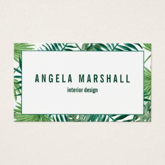 Tropical Banana Palm Leaf Botanical Business Card