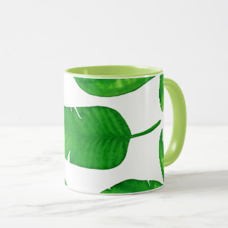 Tropical Banana Palm Leaves 11 oz Eco Mug