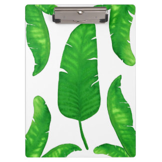 Tropical Banana Palm Leaves Clipboard