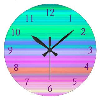 Tropical Bands Wall Clock