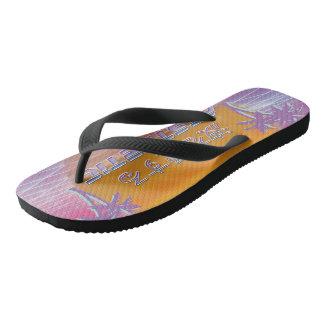 Tropical Beach Aesthetic Flip flops