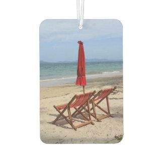 Tropical beach air freshener
