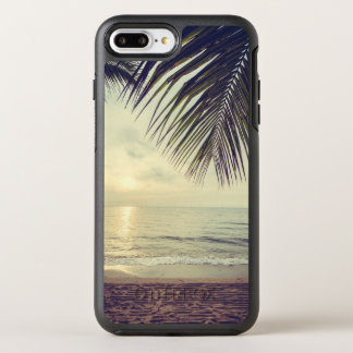 Tropical Beach and Palm Leaves | Phone Case