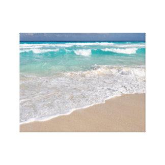 Tropical Beach and Sandy Beach Canvas Print