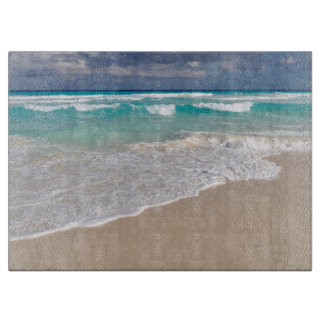 Tropical Beach and Sandy Beach Cutting Board