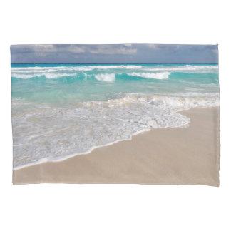 Tropical Beach and Sandy Beach Pillowcase