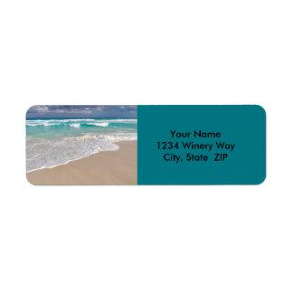 Tropical Beach and Sandy Beach Return Address Label