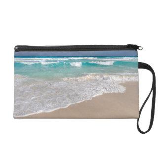 Tropical Beach and Sandy Beach Wristlet