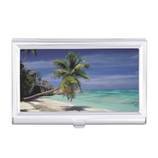Tropical Beach, Anse Sourse D'Argent, La Digue Business Card Case