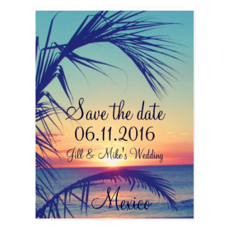 Tropical Beach Aruba Destination Save The Date Postcard