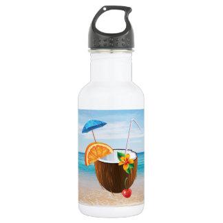 Tropical Beach,Blue Sky,Ocean Sand,Coconut Coctail