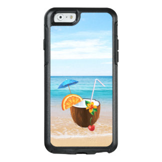 Tropical Beach,Blue Sky,Ocean Sand,Coconut Coctail OtterBox iPhone 6/6s Case