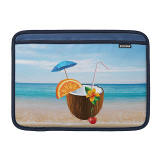 Tropical Beach,Blue Sky,Ocean Sand,Coconut Coctail Sleeve For MacBook Air
