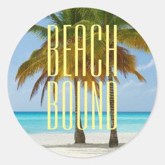 Tropical Beach Bound Classic Round Sticker