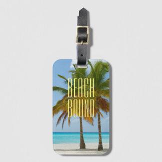 Tropical Beach Bound Luggage Tag