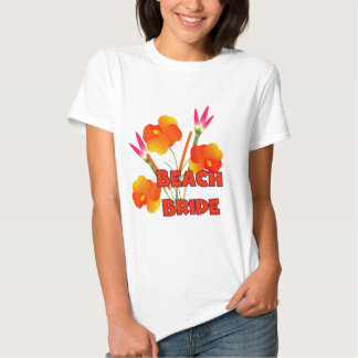 Tropical Beach Bride T-shirts and Gifts