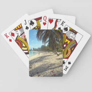 Tropical beach Caribbean playing cards