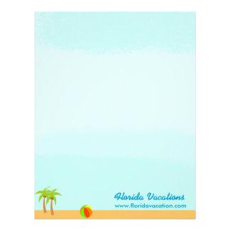 Tropical Beach Caribbean Vacation template Letterhead