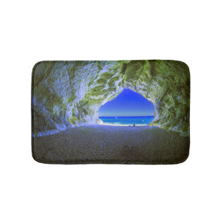 Tropical Beach Cave White Sandy Shore Bath Mat