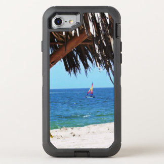 Tropical Beach Colorful Sailboat OtterBox Defender iPhone 8/7 Case