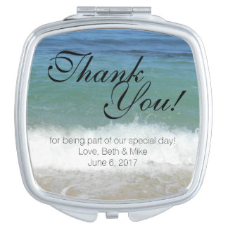 Tropical Beach Compact Thank You! Makeup Mirrors