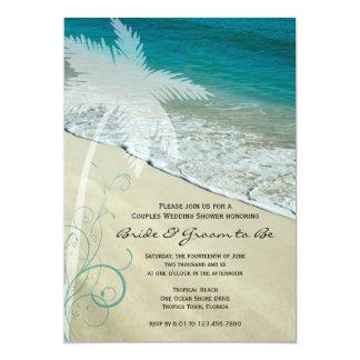 Tropical Beach Couples Wedding Shower Invite