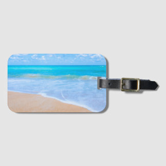 Tropical Beach Days. Vacation at Island Paradise. Luggage Tag