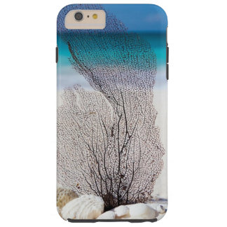 Tropical Beach decorated with Shells and a Seaweed Tough iPhone 6 Plus Case