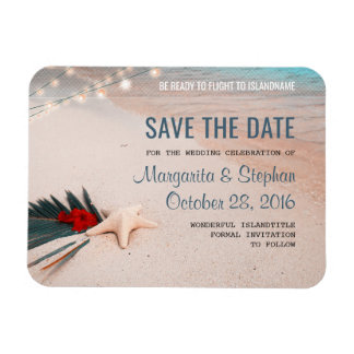 Tropical Beach Destination Wedding Save the Date Magnet