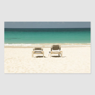 Tropical Beach Dominican Republic Sticker