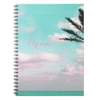 Tropical Beach, Dream, Ocean View, Clouds, Palm Notebooks