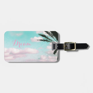 Tropical Beach, Dreamy Ocean View, Palm Luggage Tag