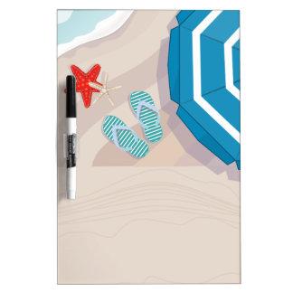 Tropical beach Dry-Erase whiteboard