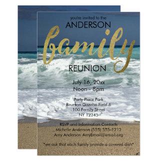 Tropical Beach Family Reunion Card