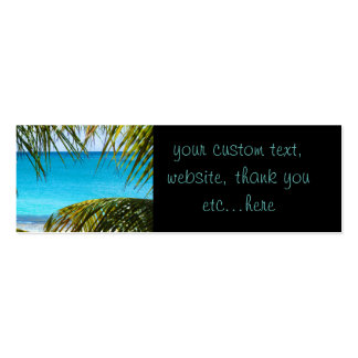 Tropical Beach framed with Palm Fronds Business Card Template