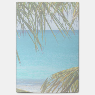 Tropical Beach framed with Palm Fronds Post-it® Notes